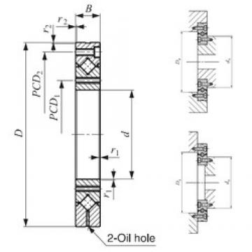10 mm x 52 mm x 8 mm  IKO CRBF 108 AT roulements à rouleaux de poussée