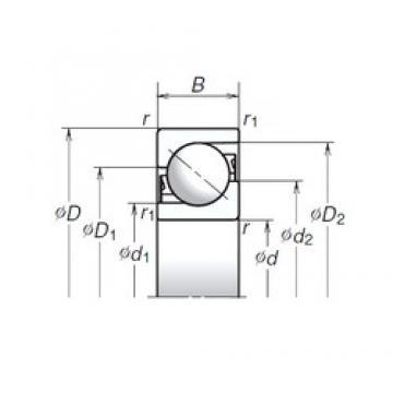 50 mm x 110 mm x 27 mm  NSK 50TAC03AT85 butées à billes
