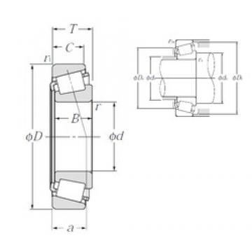 75 mm x 145 mm x 51 mm  NTN 4T-JH415647/JH415610 Roulements à rouleaux coniques