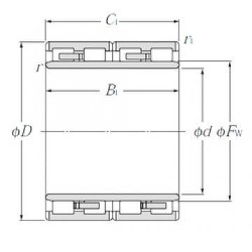180 mm x 265 mm x 180 mm  NTN 4R3618 roulements à rouleaux cylindriques