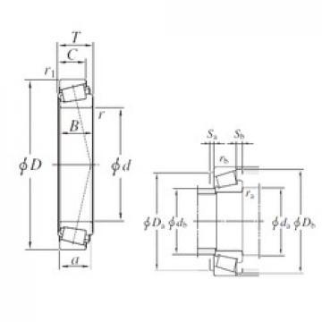 203,2 mm x 276,225 mm x 42,863 mm  KOYO LM241149/LM241110 Roulements à rouleaux coniques