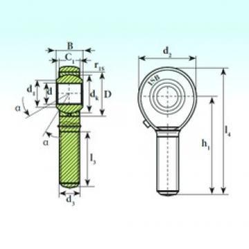 10 mm x 22 mm x 14 mm  ISB TSM 10 paliers lisses