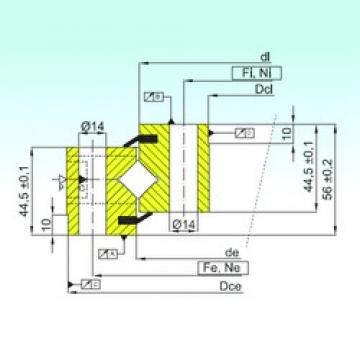 ISB NR1.14.0644.201-3PPN roulements à rouleaux de poussée