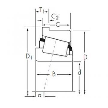50,8 mm x 111,125 mm x 26,909 mm  Timken 55200/55437-B Roulements à rouleaux coniques