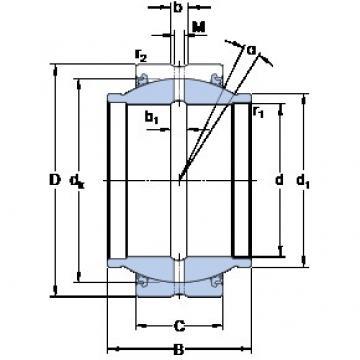 50.8 mm x 80.963 mm x 76.2 mm  SKF GEZM 200 ES-2LS paliers lisses