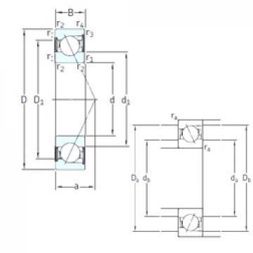 10 mm x 30 mm x 9 mm  SNFA E 210 /S/NS /S 7CE1 roulements à billes à contact oblique