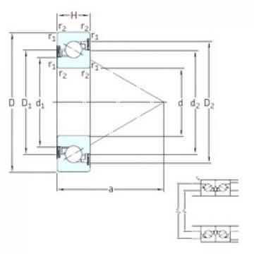 40 mm x 80 mm x 18 mm  SNFA BS 240 /S 7P62U butées à billes