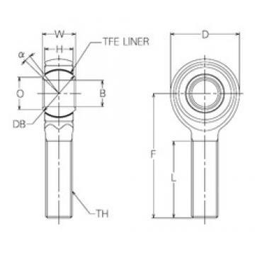 22 mm x 52 mm x 22 mm  NMB HRT22E paliers lisses