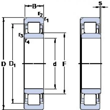 110 mm x 200 mm x 53 mm  SKF NU 2222 ECN1ML butées à billes