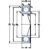 90 mm x 140 mm x 24 mm  SKF S7018 CD/P4A roulements à billes à contact oblique